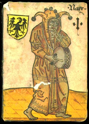 Fool with Ace-function in the Hofämterspiel, ca. 1455, probably produced for Ladislaus posthumus, King of Bohemia