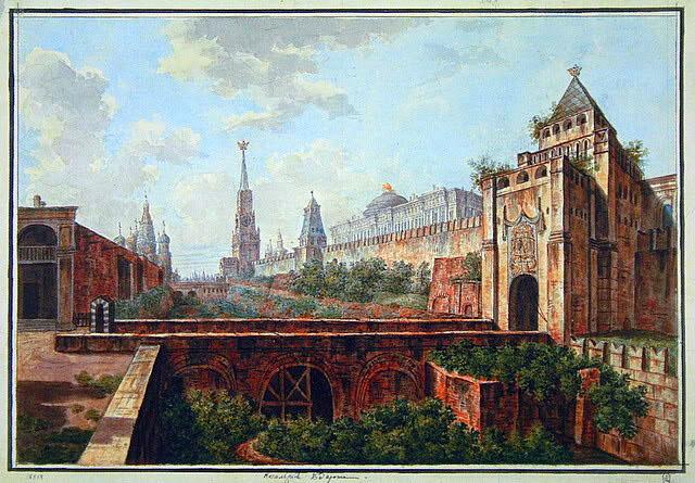 Москва 1801-1802 гг. художник Ф.Я. Алексеев (1754-1824)